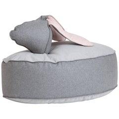 Rabbit-Donkey Beanbag by Sarit Shani Hay in Wool