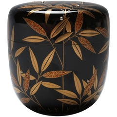 Tea Caddy with Bamboo Grass and Dew