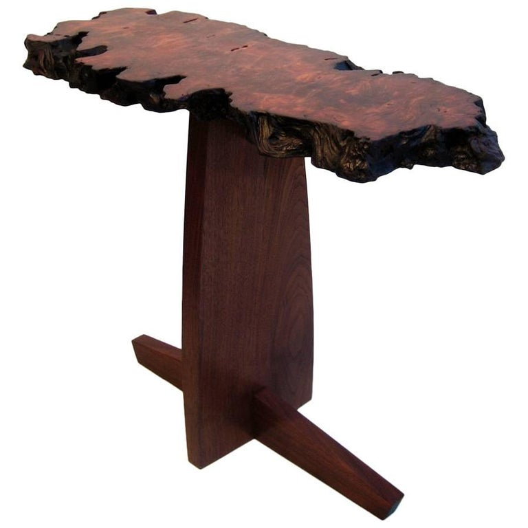 Redwood and Walnut Console Table by Mira Nakashima, 2006 For Sale