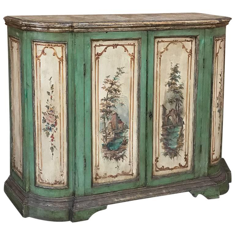 Antique italian florentine painted buffet for sale at 1stdibs for Italian painted furniture