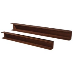 Walter Wirz for Wilhelm Renz Solid Teak Wall Shelves