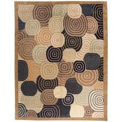 Black and Gold Swirl Design Rug
