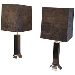1970s Pair of Lamps by Guy Lefevre
