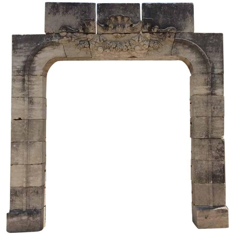 18th Century Stone Entry from Castle in Europe, circa 1800s
