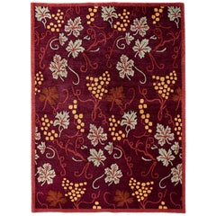 Floral Red and Gold Rug
