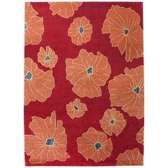 Floral Red Rug