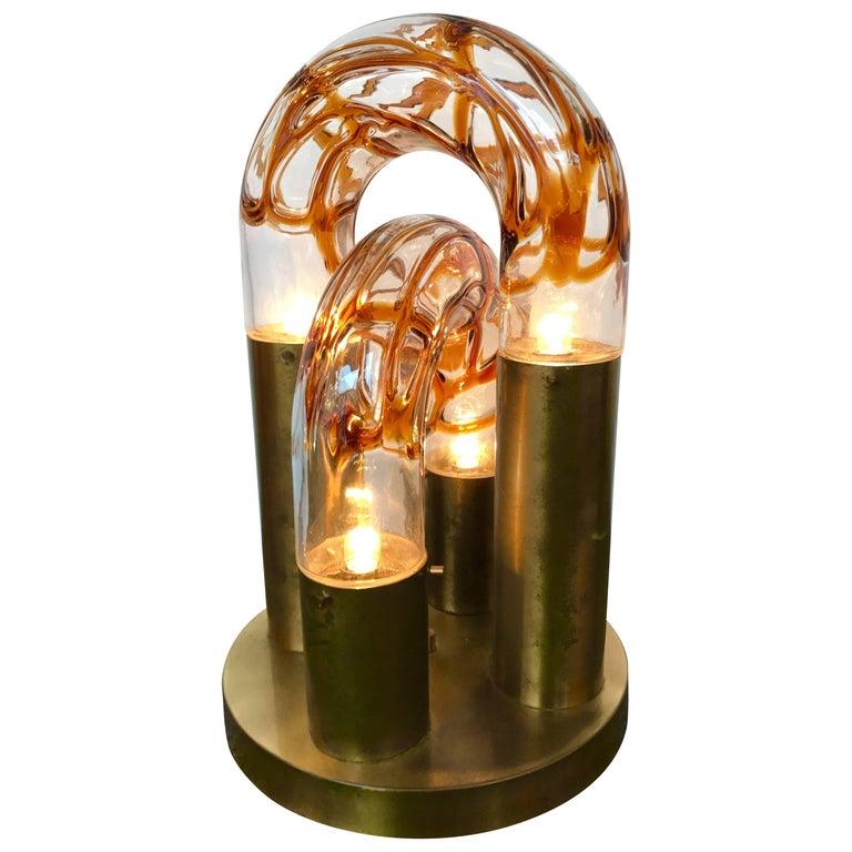Lamp by Aldo Nason for Mazzega Murano, Italy, 1970s