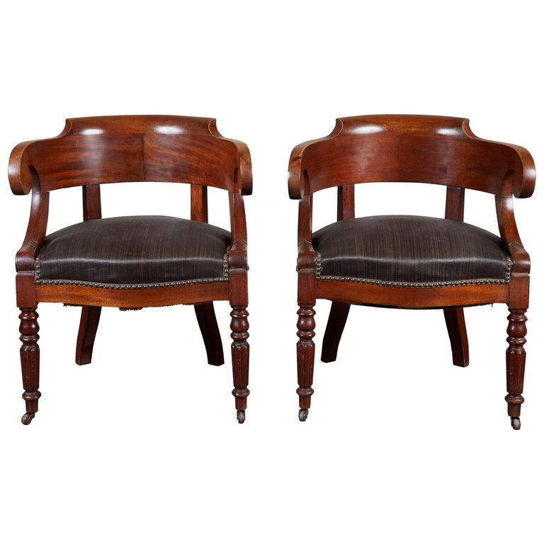 fine mahogany single armchair or fauteuil northern europe. Black Bedroom Furniture Sets. Home Design Ideas