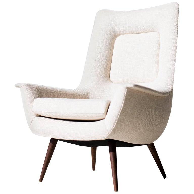 Lawrence Peabody High Back Lounge Chair P-1714 for Craft Associates Furniture For Sale