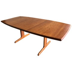 Midcentury Danish Modern Segmented Oval Teak Dining Table by Gudme Mobelfabrik