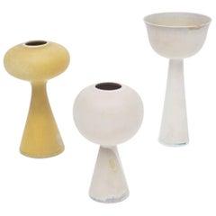 "Stig Lindberg Signed Ceramic ""Tokyo"" Vases for Gustavsberg Studio, Sweden, 1950s"