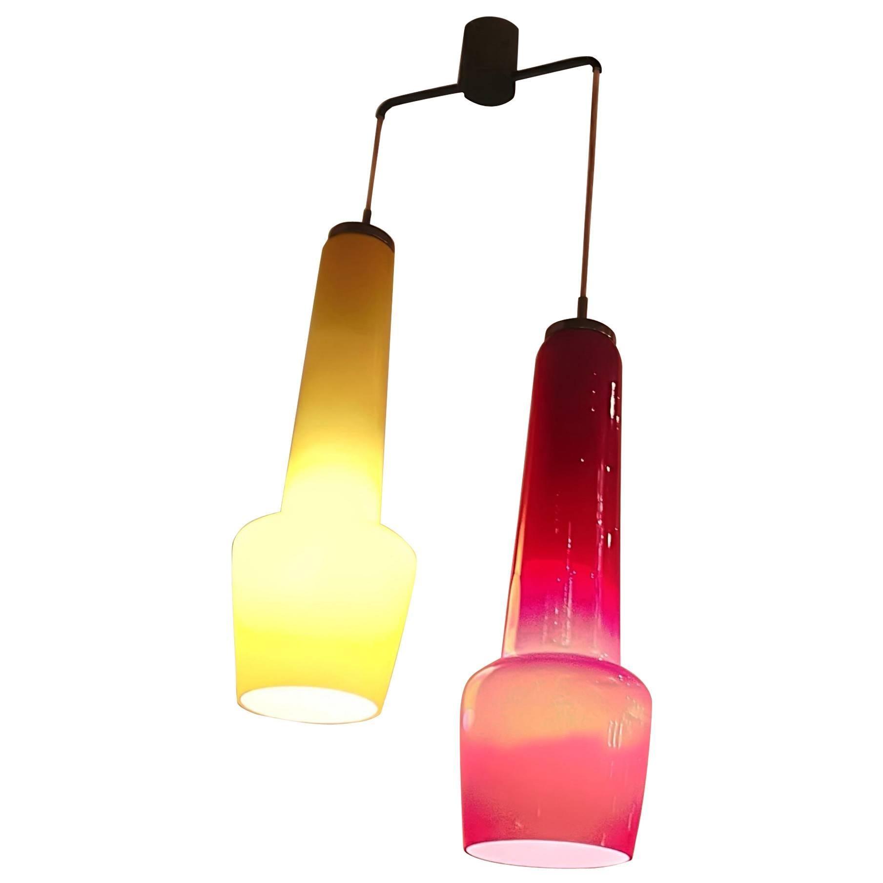 Stilnovo 1950 Chandelier Two-Light