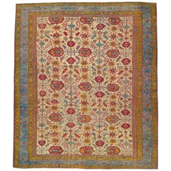 Early 20th Century Handmade Turkish Oushak Large Square Carpet