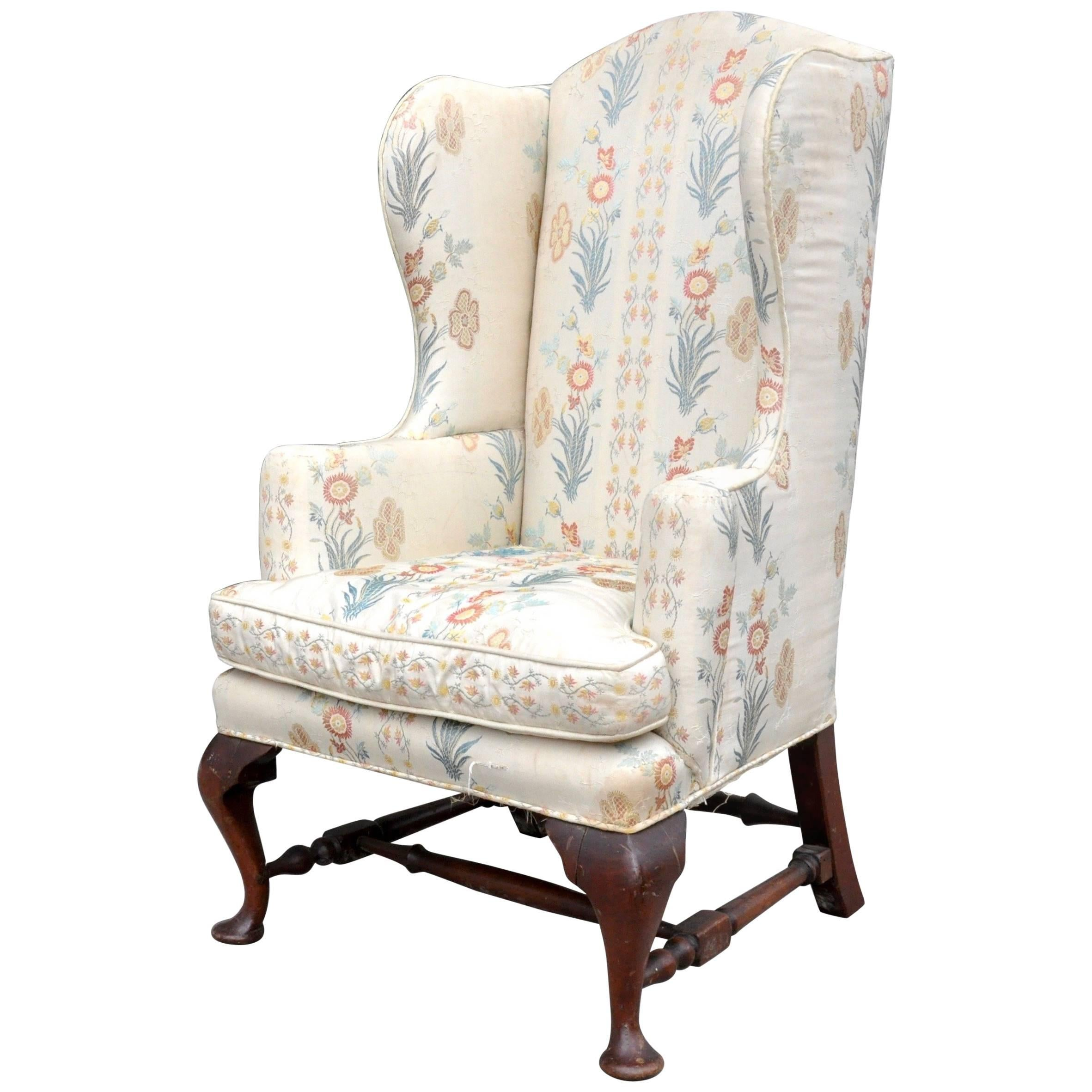 19th century diminutive or childu0027s walnut wingback chair american