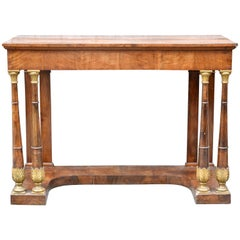 Early 19th Century Tuscan Console Table In Walnut