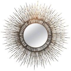 William Bowie Vintage Nail Sunburst Mirror (5 feet diameter)