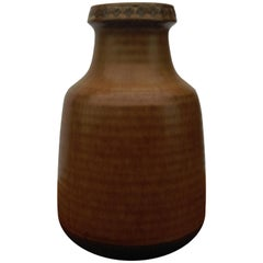 1960s Gunnar Nylund Brown Ceramic Vase by Rörstrand G.N. Sweden