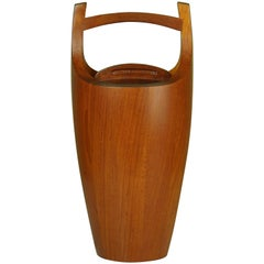 "Solid Teak ""Congo"" Ice Bucket by Jen H. Quistgaard for Dansk Designs"