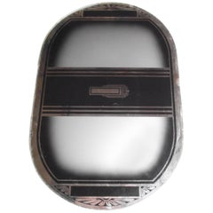 Art Deco Tray in Black and Silver Mirror Decoration