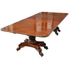 Period American Federal Dining Two-Pedestal Classical Table, circa 1820