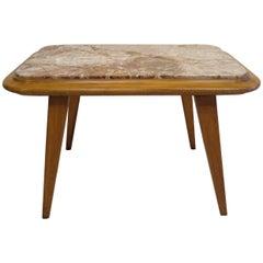 Italian Midcentury Marble Top Table