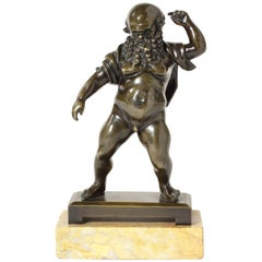 Early 19th Century Patinated Bronze Figure of Silenus after the Antique