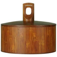 """Cane and Teak"" Ice Bucket by Jen H. Quistgaard for Dansk Designs,  Model 1510"