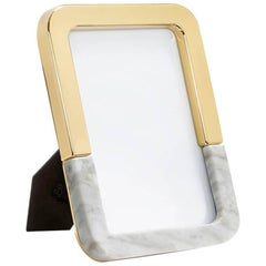 Dual Frame Carrara Marble and Gold - In Stock