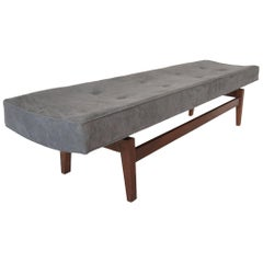 Jens Risom Bench in Suede