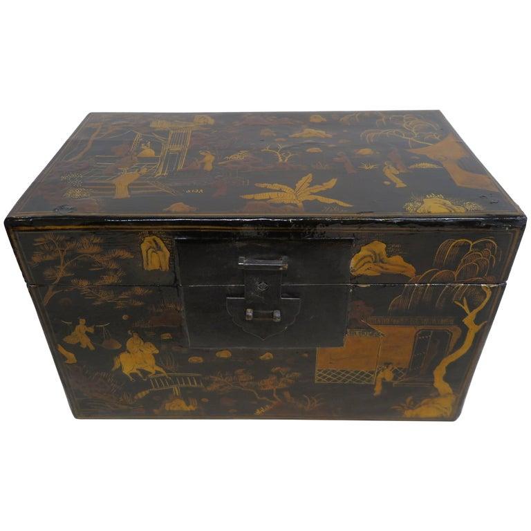 Chinoiserie Gilt Painted Box
