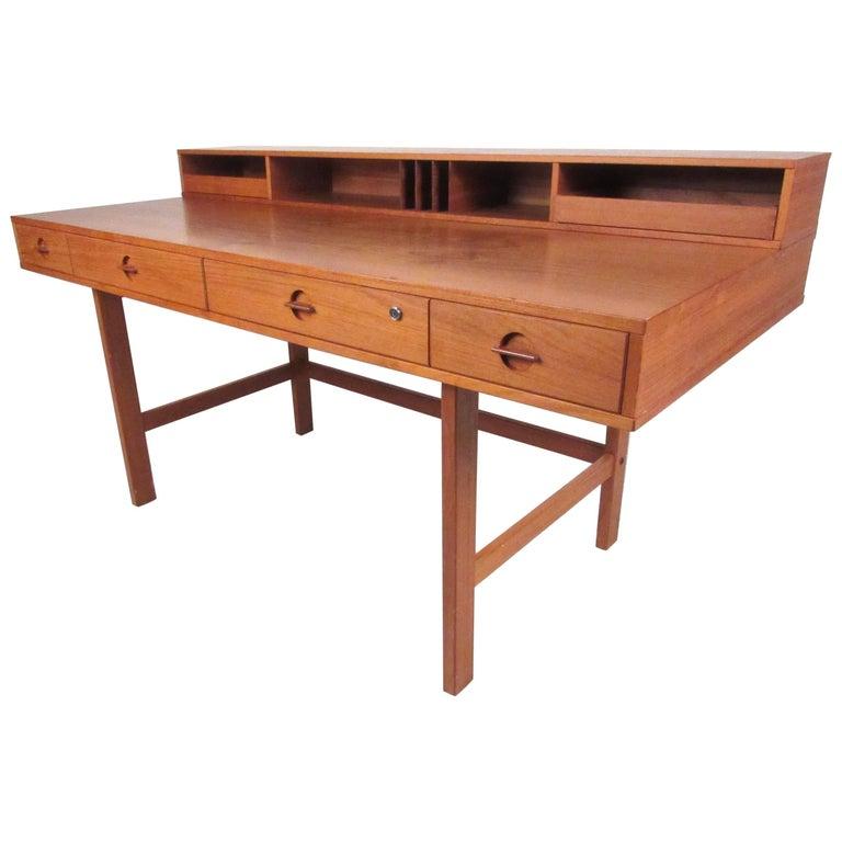 Danish Modern Flip-Top Desk by Jens Quistgaard