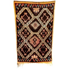 Early 20th Century Moroccan Berber Rug Found in the Atlas Mountains