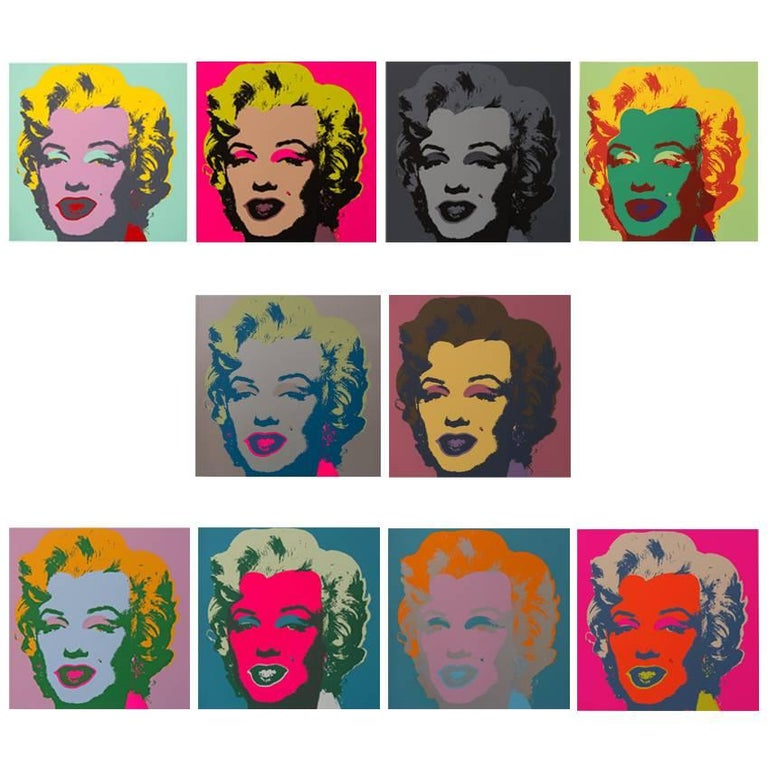 "Andy Warhol ""Marilyn Monroe"" Silkscreen Print  For Sale"