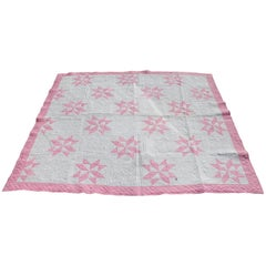 19th Century Star Quilt in Dusty Rose