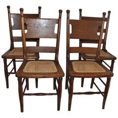 Four 19th Century Oak Children's Chairs