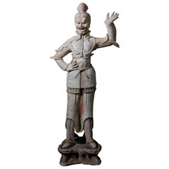 Tang Dynasty Imposing Terracota Lokapala Standing in Menacing Pose - TL Tested