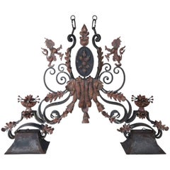 Wrought Iron French Billiard Table Light Fixture