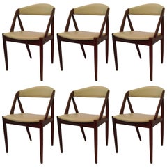 1960s Kai Kristiansen Set of Six Model 31 Dining Chairs in Teak