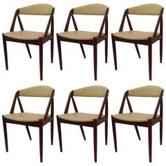 1960s Kai Kristiansen Set of Six Model 31 Dining Chairs in Teak