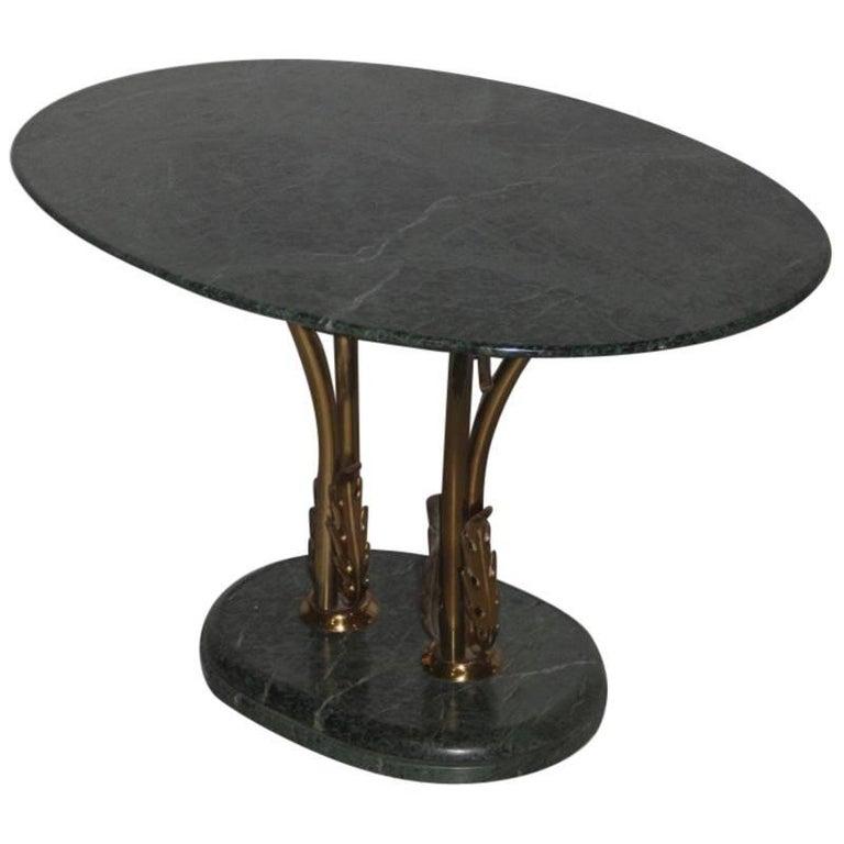 Green Marble Coffee Table Italian Design Borsani Style Mid-Century Modern