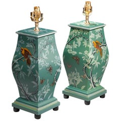 Pair of 20th Century Square Section Lamps