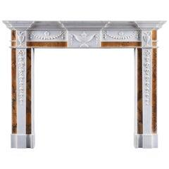 Antique George III Irish Neoclassical Fireplace Mantel