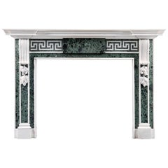 Palladian Style Antique Verde Antico Fireplace Mantel