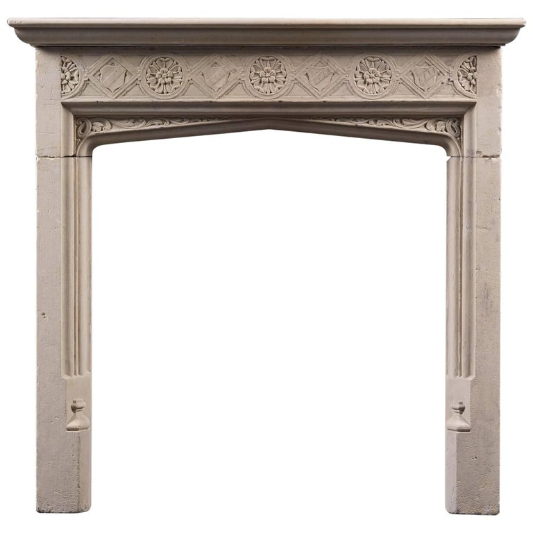 Arts And Crafts Portland Stone Mantel At 1stdibs