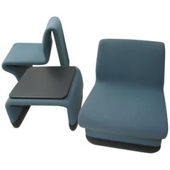 Jan Ekselius Mid Century Modern Three-Piece Suite Lounge Chairs with a Table