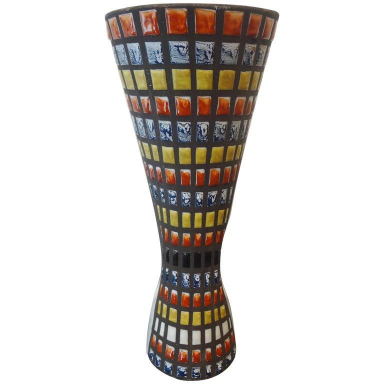 Diabolo Vase, circa 1953-58 by Roger Capron, France