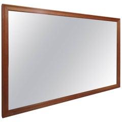 Large Teak Midcentury Mirror