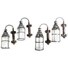 Set of Four Wrought Iron Wall Lights