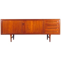 Danish Modern Teak Credenza or Sideboard by Ib Kofod-Larsen for Faarup