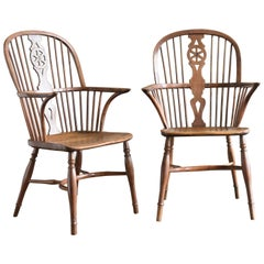 Pair of 19th Century Windsor Chairs